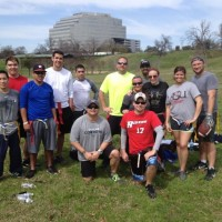 Houston Members Playing Flag Football