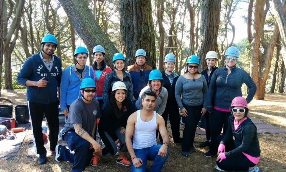 Events & Adventures members attack the ropes course!