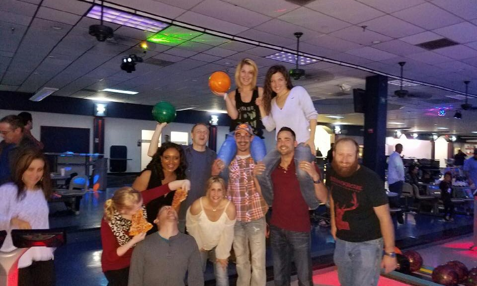neon bowling event with Events & Adventures