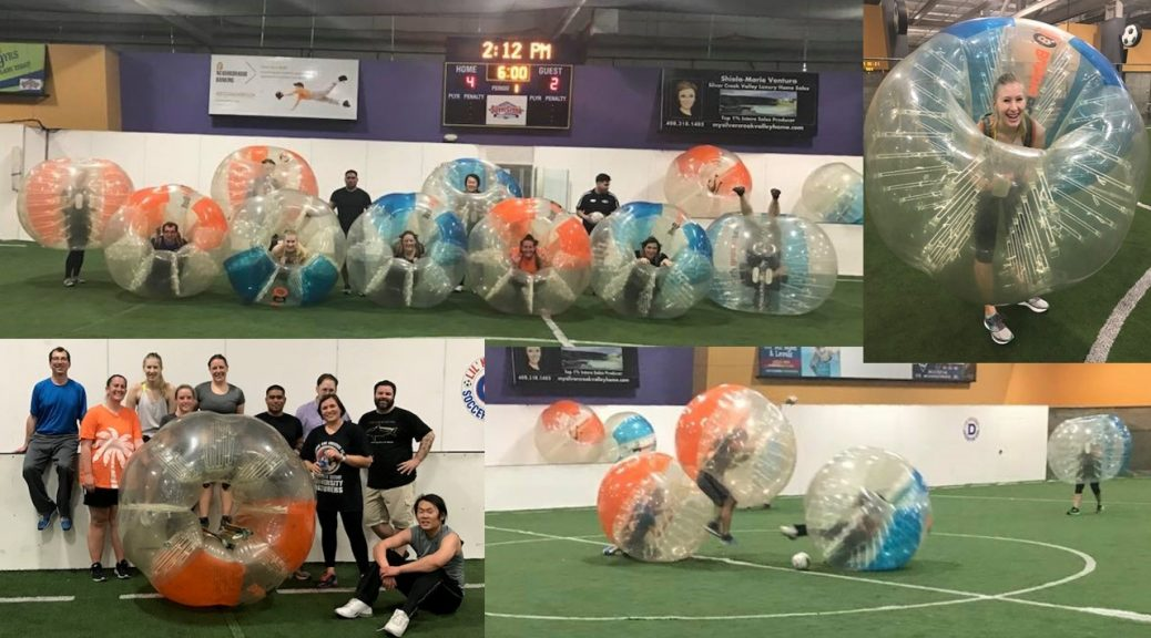 Another fun event of bubble soccer with Events & Adventures