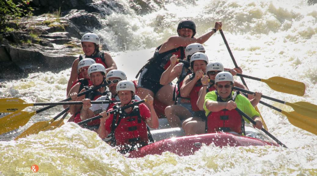 river rafting with Events & Adventures Midwest